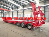 truck lower bed trailer , High-sided semi trailer